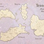 A map of the fictional world of Tessera.